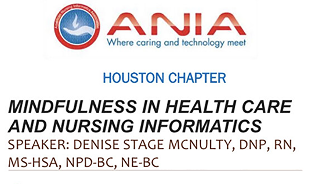 Webinar: Mindfulness in Health Care and Nursing Informatics (10/23/21)